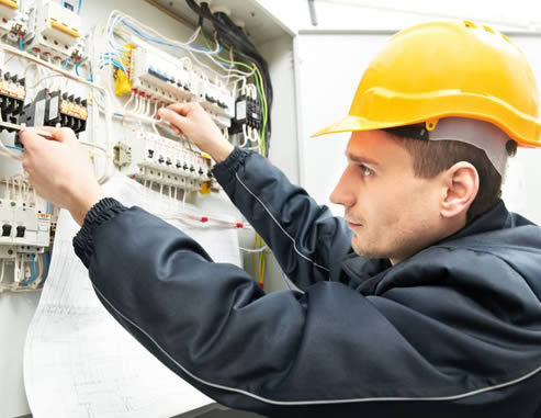 Photo of an electrician