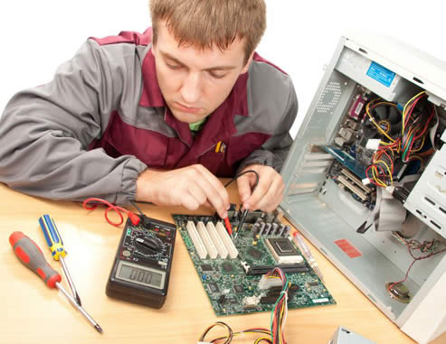 Photo of a computer technician